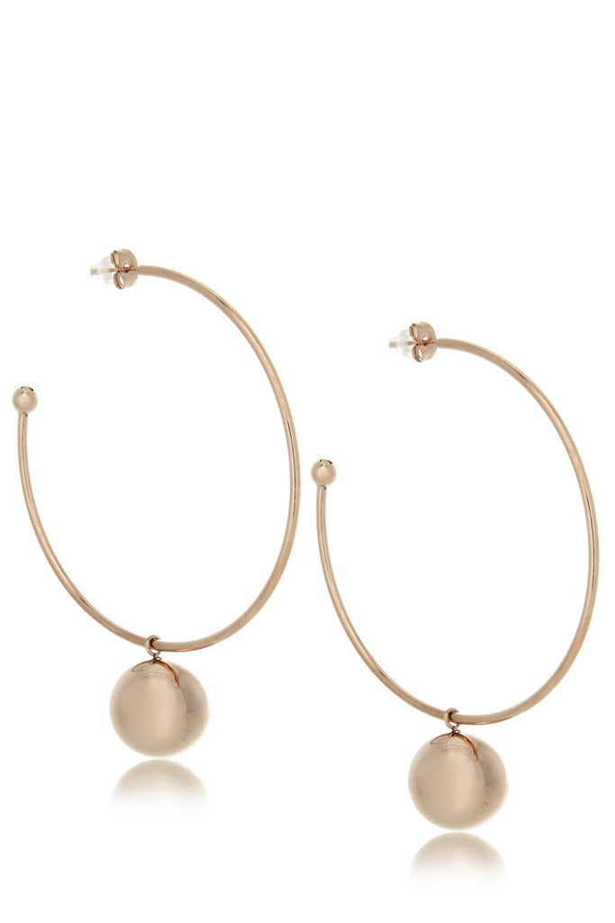 PARTY BALL Rose Gold Hoops