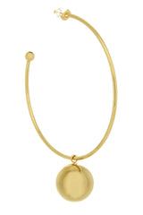 PARTY BALL Gold Hoops