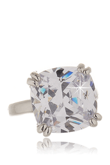 KENNETH JAY LANE BEATRICE Square Zirconia Ring