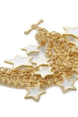 KENNETH JAY LANE STARS White Gold Bracelet