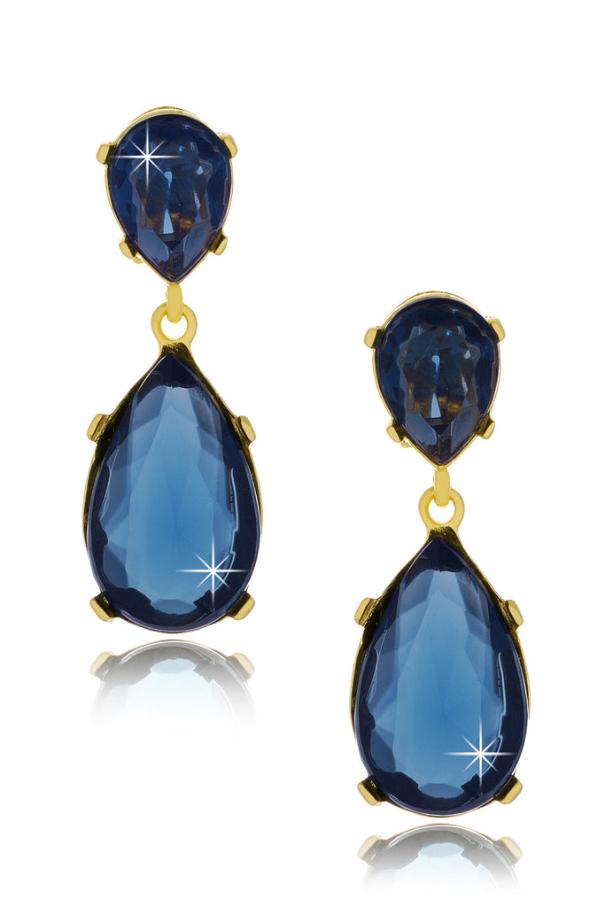 KENNETH JAY LANE ANGELINA Indigo Drop Earrings