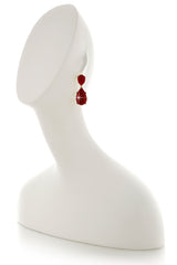 KENNETH JAY LANE ANGELINA Red Drop Earrings