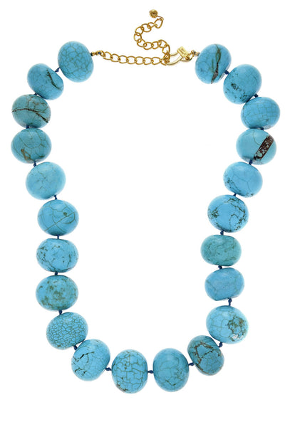 KENNETH JAY LANE ARIA Turquoise Stones Necklace