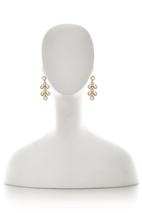 KENNETH JAY LANE BAROQUE White Gold Earrings