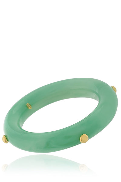 KENNETH JAY LANE BERNADETTE Jade Studs Bangle
