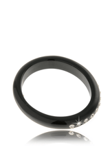 KENNETH JAY LANE BLACK Crystal Dots Resin Bangle