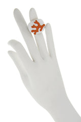 KENNETH JAY LANE BRANCH Coral White Ring