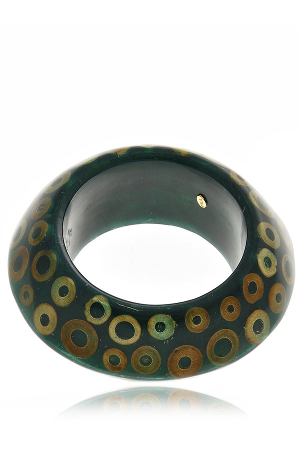 KENNETH JAY LANE BUBBLES Green Resin Bangle