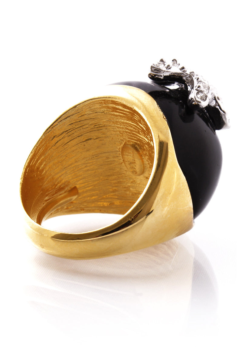 KENNETH JAY LANE Black Starfish Ring