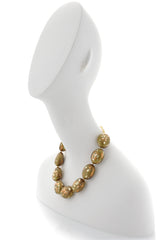 KENNETH JAY LANE CAMOUFLAGE Olive Beads Necklace