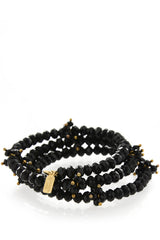 KENNETH JAY LANE CAROLYNE Black Crystal Bracelet