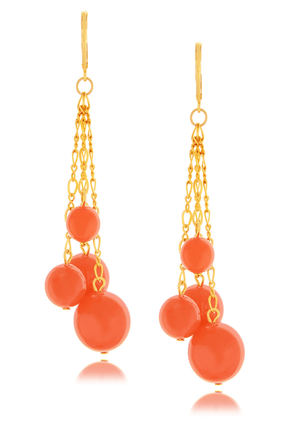KENNETH JAY LANE CORAL Beads Earrings