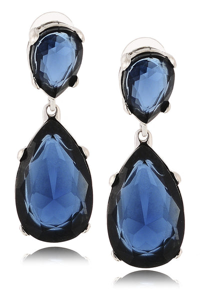 KENNETH JAY LANE CORDELIA Indigo Drop Earrings