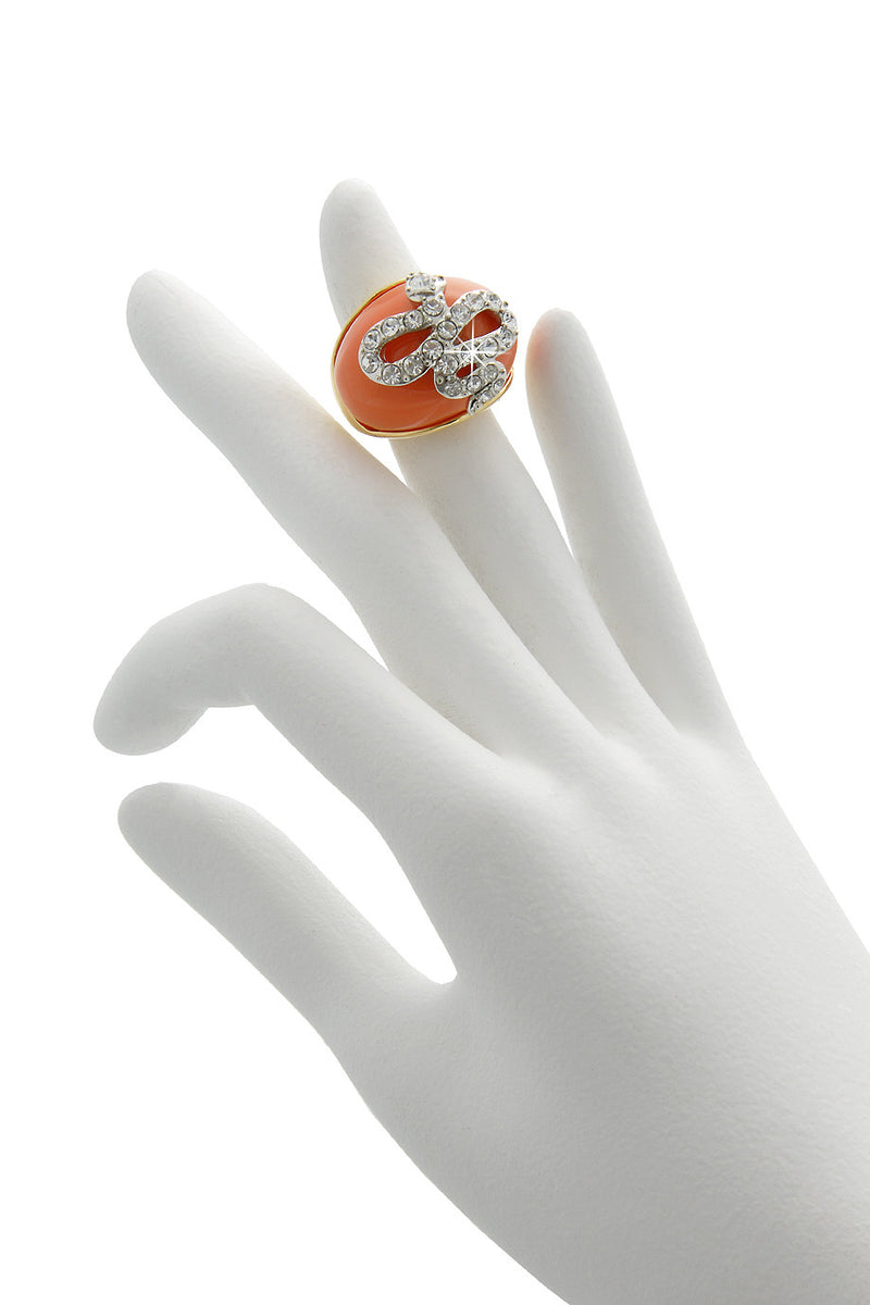 KENNETH JAY LANE Coral Snake Dome Ring