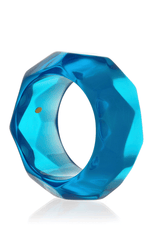 KENNETH JAY LANE DISCO Blue Resin Bangle