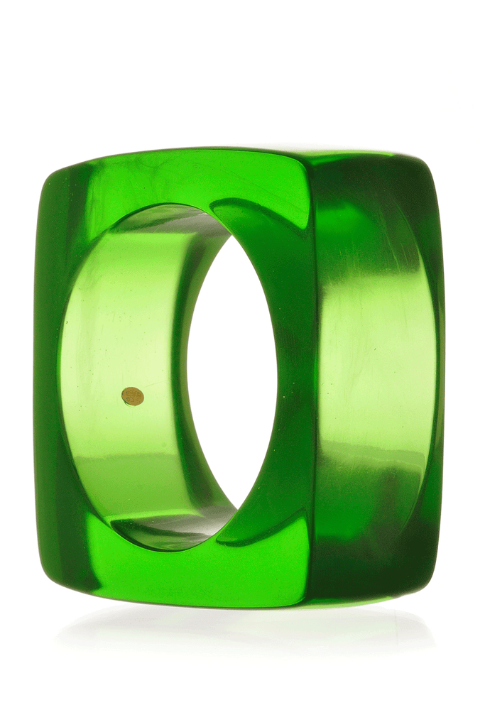 KENNETH JAY LANE DISCO Green Square Resin Bangle