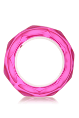 KENNETH JAY LANE DISCO Pink Resin Bangle