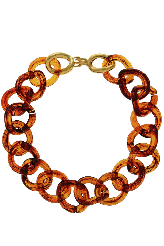 KENNETH JAY LANE ΗΑDRIA Brown Tortoise Necklace