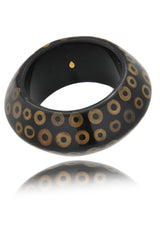 KENNETH JAY LANE Dark Brown Bubble Bracelet