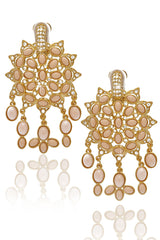 KENNETH JAY LANE EMPRESS SUN Angelskin Clip Earrings