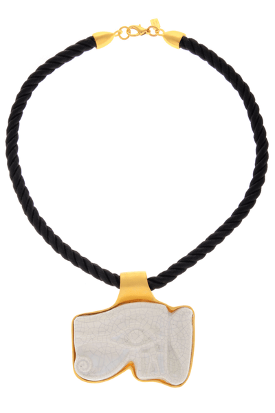 KENNETH JAY LANE EYE OF HORUS Cord Pendant