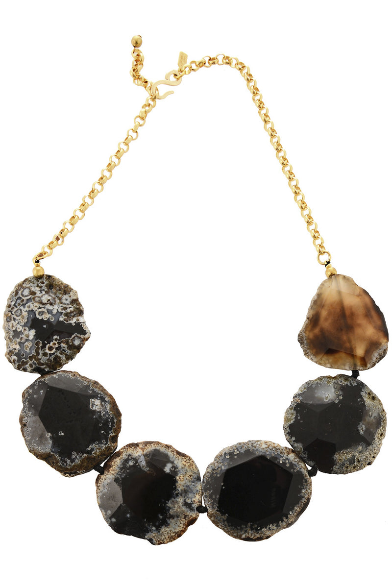KENNETH JAY LANE FURIO Black Agate Necklace