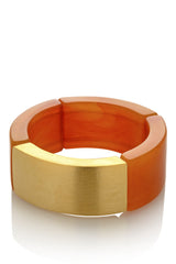 KENNETH JAY LANE GLENA Gold Amber Bracelet