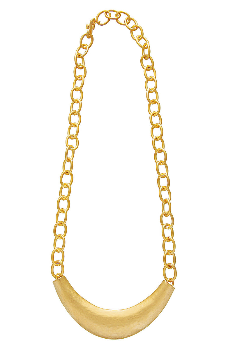 KENNETH JAY LANE GOLD HAMMERED Roman Necklace