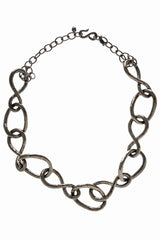 KENNETH JAY LANE GUNMETAL Chain Necklace