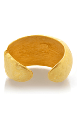 KENNETH JAY LANE Gold Hammered Cuff