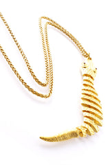 KENNETH JAY LANE Gold Snake Pendant