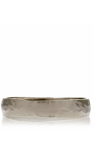 KENNETH JAY LANE HAMMERED Silver Bangle