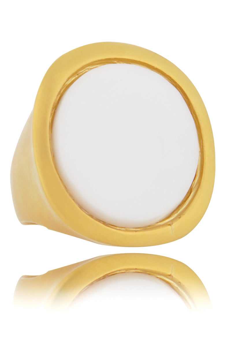 KENNETH JAY LANE HARRIET Chalk White Center Ring