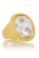 KENNETH JAY LANE HARRIET Crystal Round Cocktail Ring