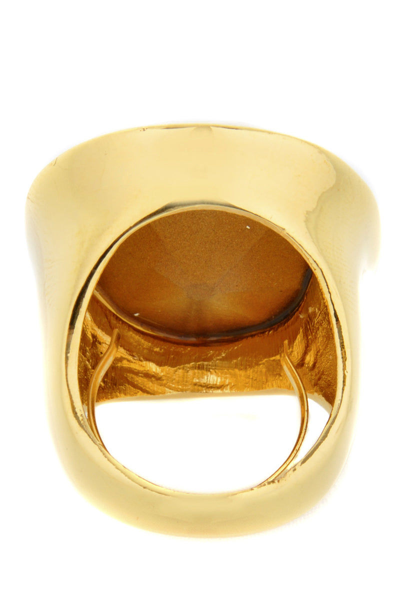 KENNETH JAY LANE HARRIET Polished Gold Opal Ring