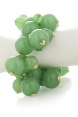 KENNETH JAY LANE HONEYGOLD Jade Pearls Bracelet