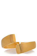 KENNETH JAY LANE ISSA Gold Matte Cuff