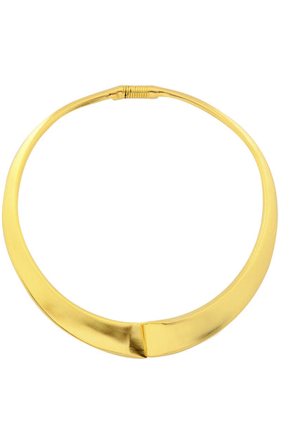 KENNETH JAY LANE ISSA Gold Matte Necklace