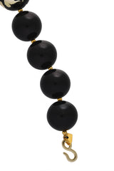 KENNETH JAY LANE JULIA Black Scraped Beads Necklace