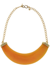 KENNETH JAY LANE LAVERNA Amber Shade Necklace
