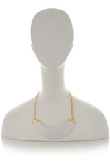 KENNETH JAY LANE White Shade Necklace