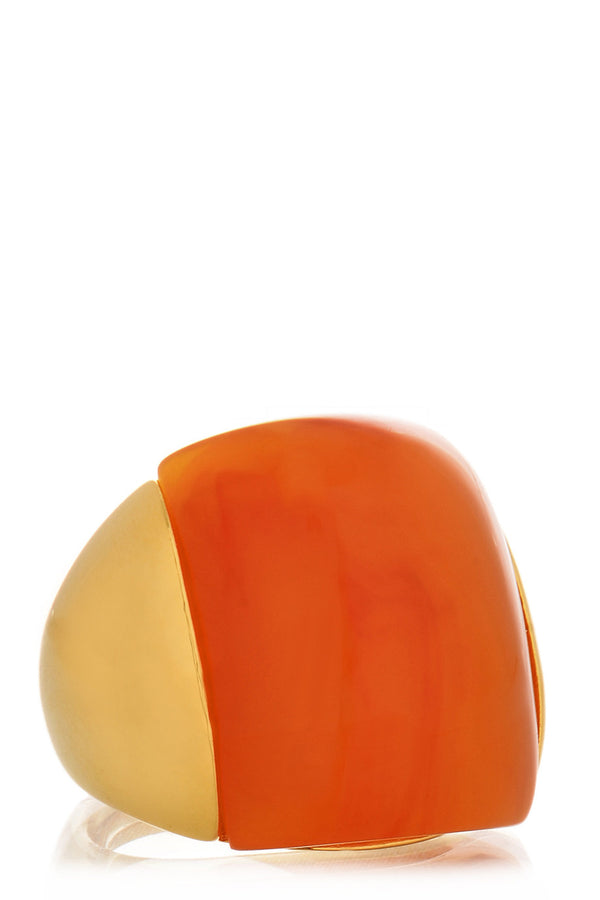 KENNETH JAY LANE LEOINE Gold Amber Ring