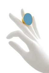 KENNETH JAY LANE MANDRIA Turquoise Enamel Ring