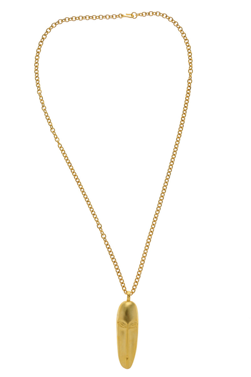 KENNETH JAY LANE MASAI Gold Hammered Pendant