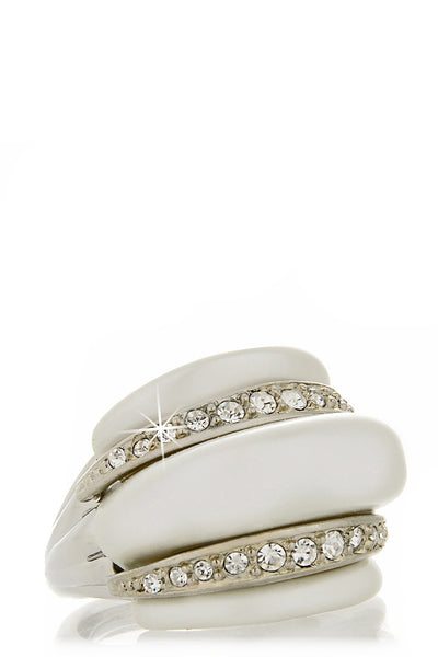 KENNETH JAY LANE MASELINA Crystal Pearl Ring