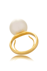 KENNETH JAY LANE MIRABEL Gold Pearl Ring