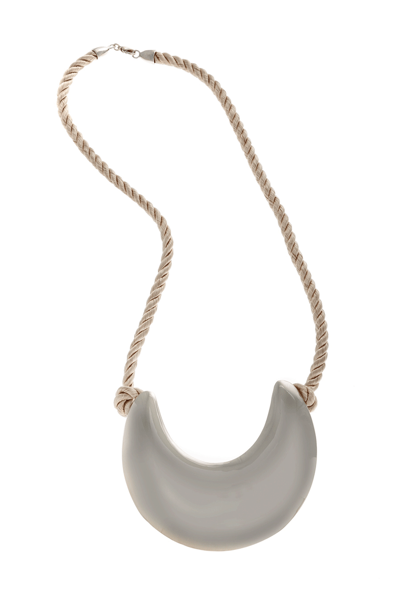 KENNETH JAY LANE MOONLIGHT Silver Rope Necklace