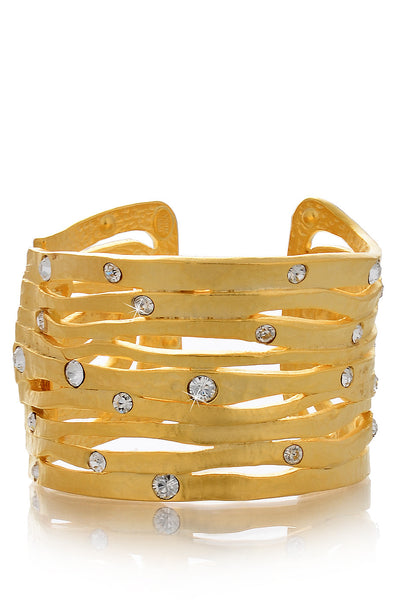 KENNETH JAY LANE NOLITA Gold Crystal Cuff