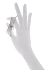 KENNETH JAY LANE ODD Shaped Silver Bracelet