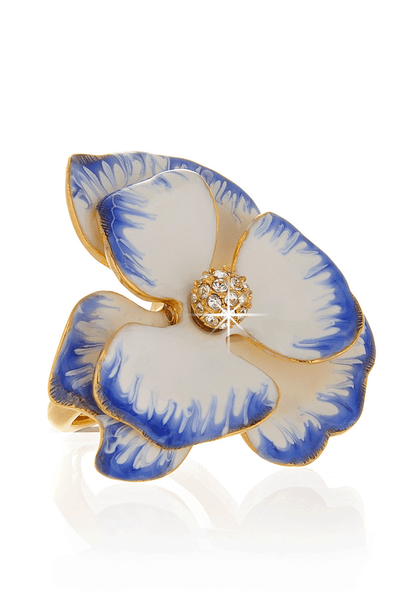 KENNETH JAY LANE Pansy Flower Ring